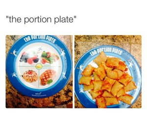food, funny, and plate image