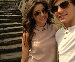 louis tomlinson, eleanor calder, and one direction image
