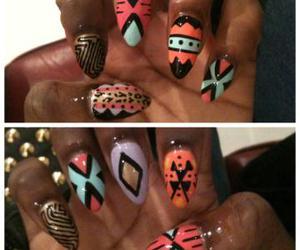 fashion, nail art, and tribal image