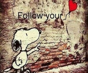 follow, heart, and snoopy image