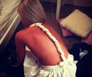 accessories, backless, and dress image
