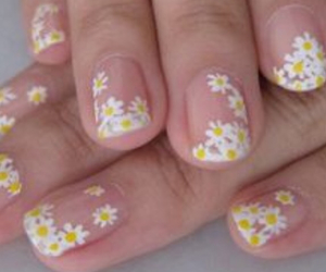 clear, flowers, and nails image