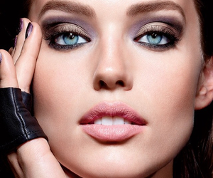 makeup, beauty, and blue eyes image