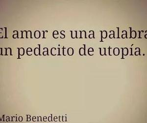 mario benedetti, love, and frases image