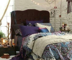 bed, urban outfitters, and bedroom image