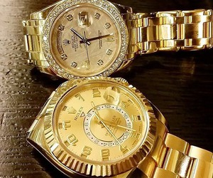 fashion, gold, and rolex image