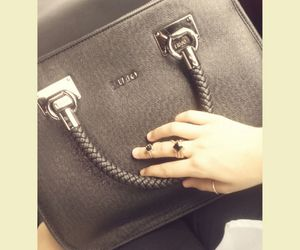 bag, black, and hand image