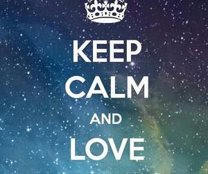 love, keep calm, and galaxy image