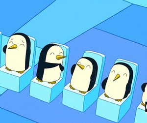 adventure time, penguin, and cartoon network image