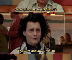 joy division, the cure, and edward scissorhands image