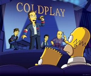 coldplay, simpsons, and the simpsons image