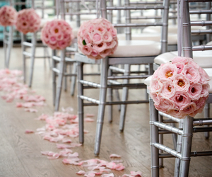 chairs, flowers, and wedding image