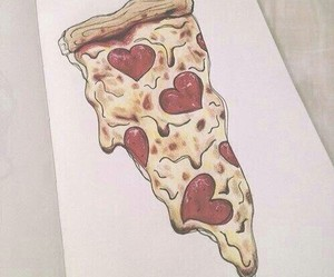 pizza, drawing, and food image