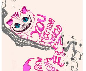 alice in wonderland, cat, and Cheshire cat image