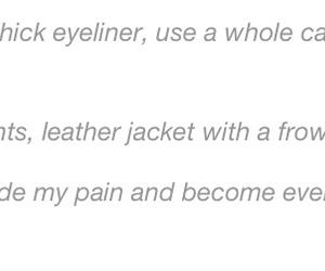 crooked, jacket, and eyeliner image