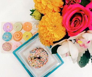 boquet, colour, and donut image