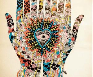 art, hands, and eye image