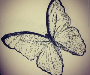 butterfly, doodle, and dots image
