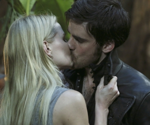kiss, once upon a time, and Jennifer Morrison image