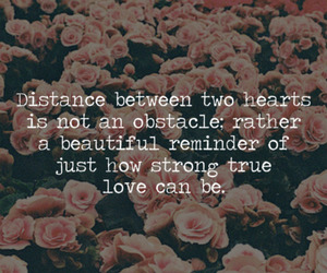distance, quote, and hearts image
