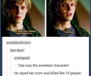 american horror story, tate, and ahs image