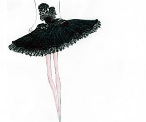 black swan and dress image