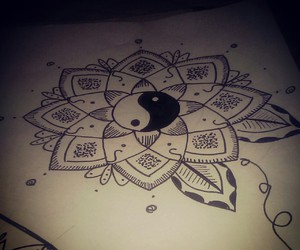 doodle, flower, and mandala image