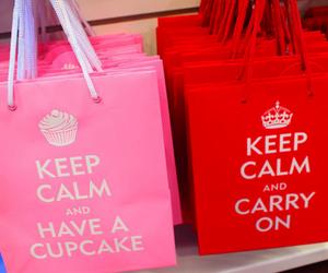 keep calm, pink, and cupcake image