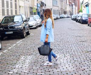 fashion, bag, and blue image