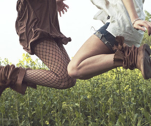 boots, girls, and jeans image