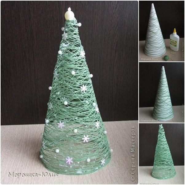 Thread Christmas Tree: How To DIY Easy Thread Roll Christmas Tree