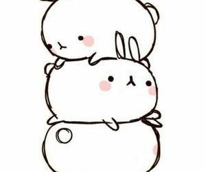 bunny, rabbit, and kawaii image