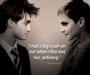 couple, handsome, and hermione granger image