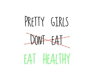 food, healthy, and girls image