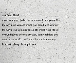best friend, dear, and quote image