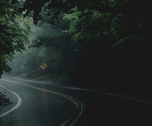 road, rain, and nature image