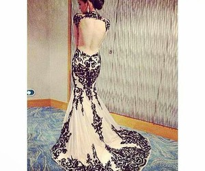 backside, beautiful, and dress image