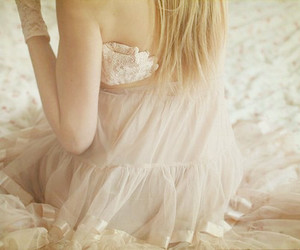 girl, dress, and lace image