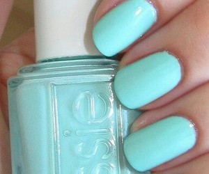 nails, essie, and blue image