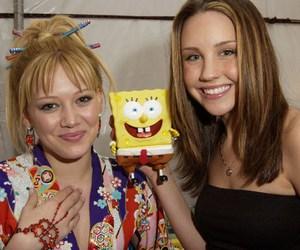 amanda bynes, Hilary Duff, and sponge bob image