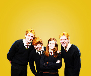fred and george, ron, and ginny image