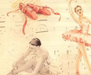 ballet, ballerina, and music image