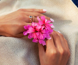 flowers, nails, and cute image