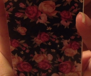 cover, flowers, and iphone5 image