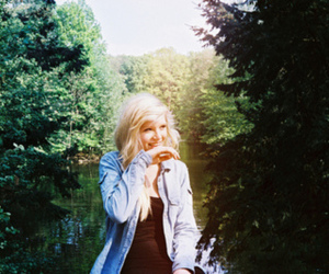 girl, blonde, and nature image