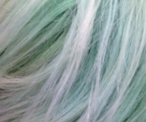dyed hair, green, and hair image