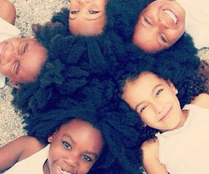 hair, kids, and Afro image