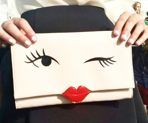 fashion, kate spade, and winky face image