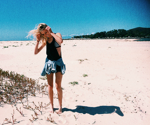 beach, girl, and indie image