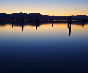 evening, lake, and nature image